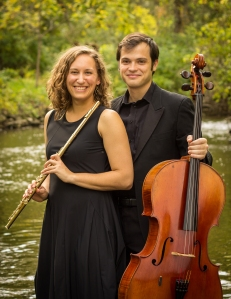 Emlyn Johnson (flute) and Dan (cello)